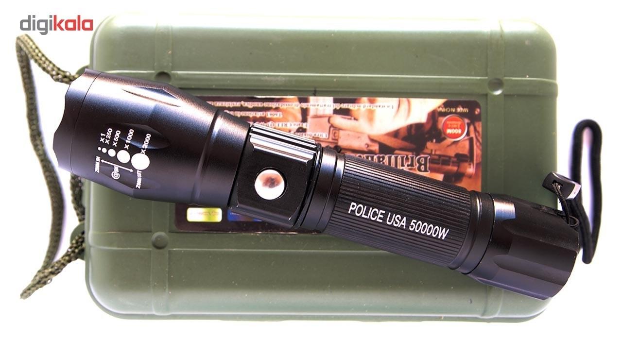 تصویر چراغ قوه طرح پلیس مدل XML-T6 Police Design XML-T6 Flash Light
