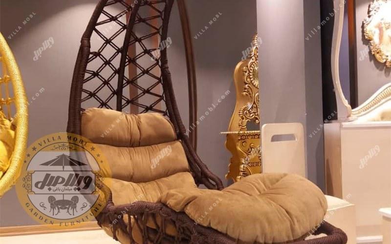تصویر تاب مدل تختی یا درازکش ریلکسی یک نفره
