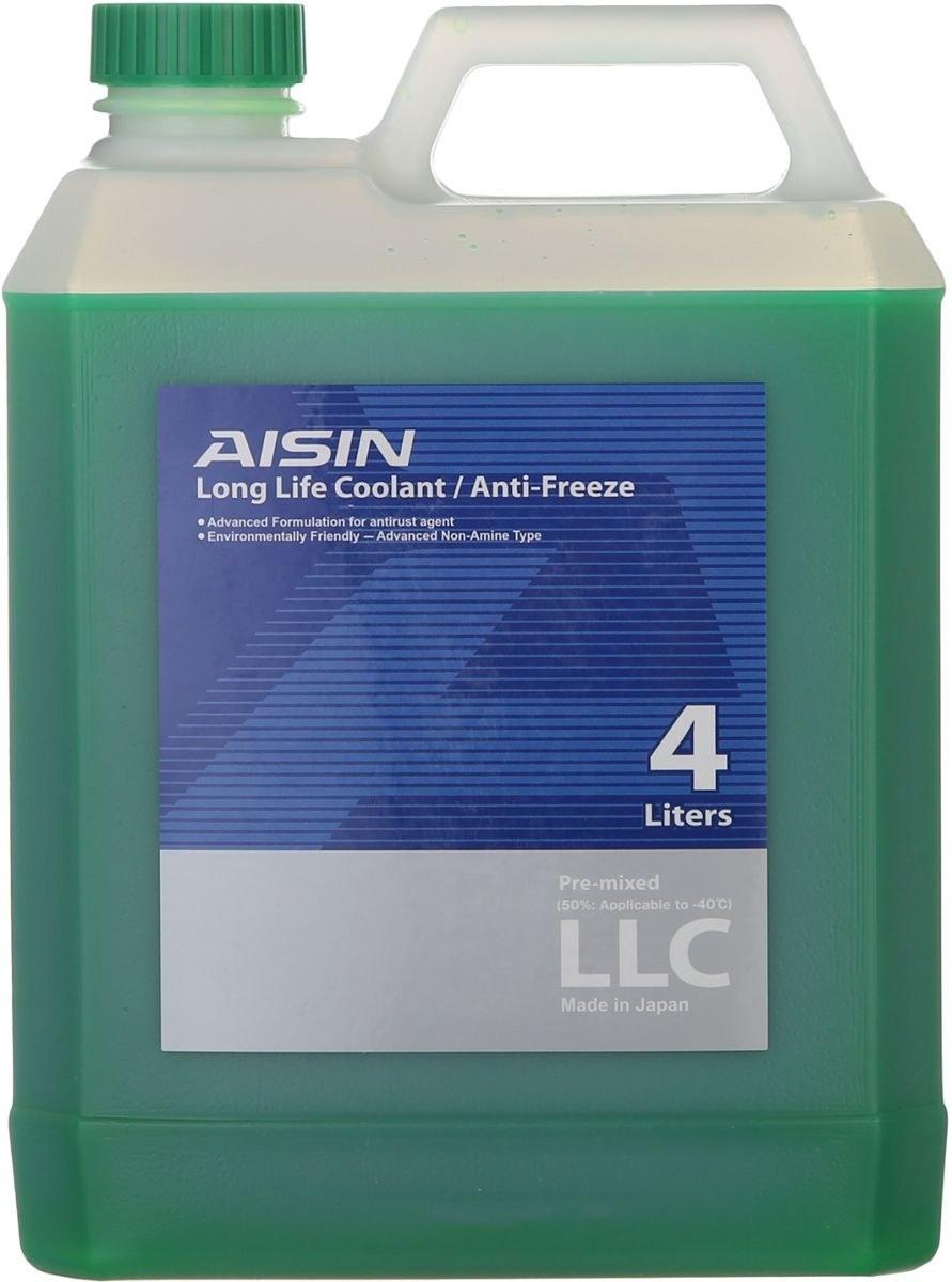 عکس ضد یخ آیسین AISIN LLC Green AISIN LONG LIFE COOLANT / ANTI-FREEZE GREEN - 4lit ضد-یخ-ایسین-aisin-llc-green