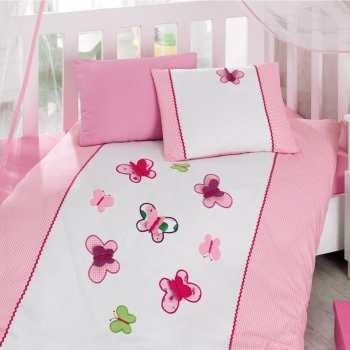 سرویس ملحفه کودک کاتن باکس طرح Kelebek یک نفره 4 تکه | Cotton Box Kelebek Child Bedsheet Set 1 Person 4 Pcs