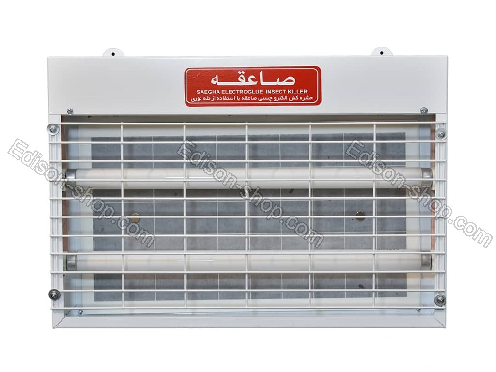 تصویر حشره کش برقی چسبی 15*2 وات صاعقه مدل SAG215