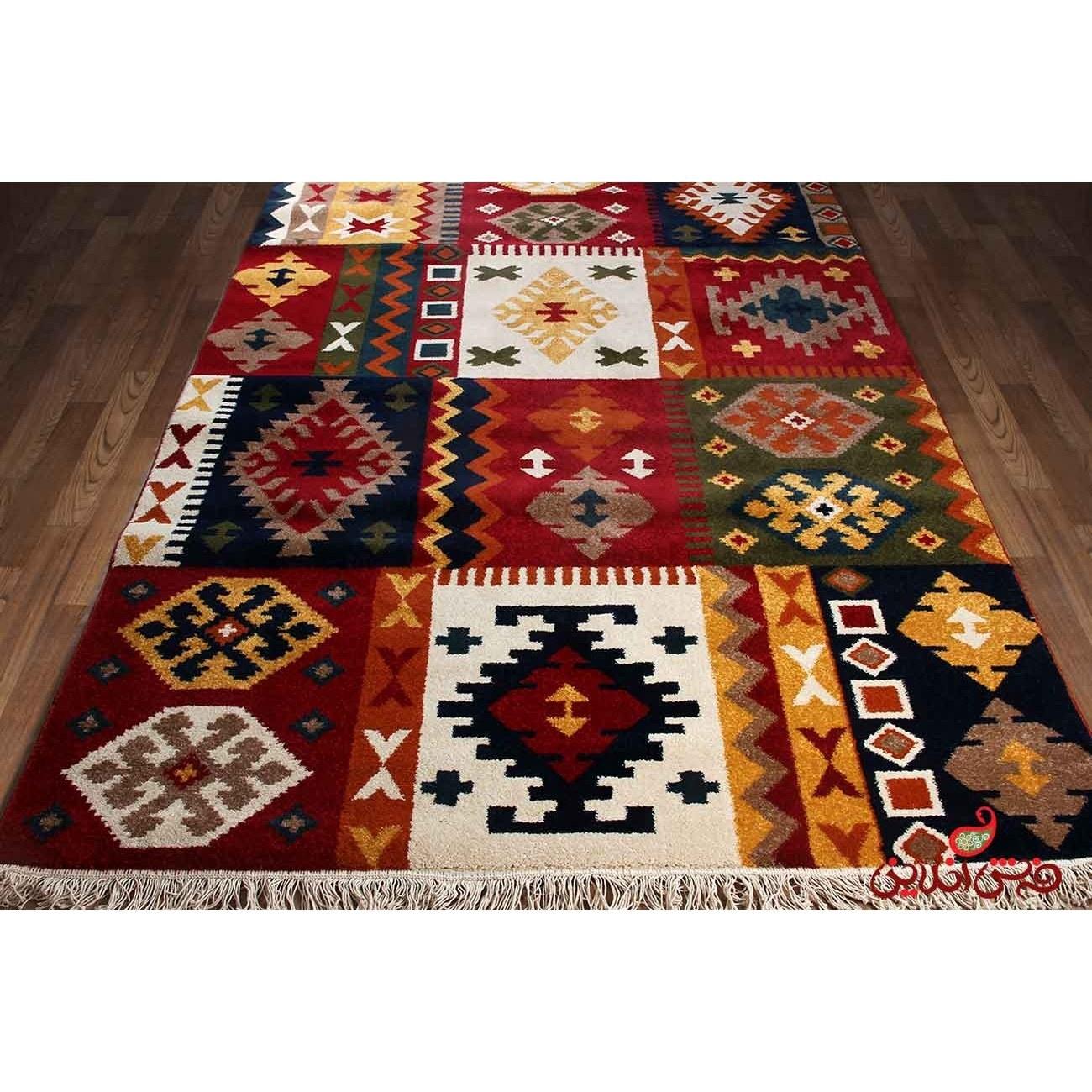 تصویر فرش ماشینی ساوین طرح کوکب لاکی