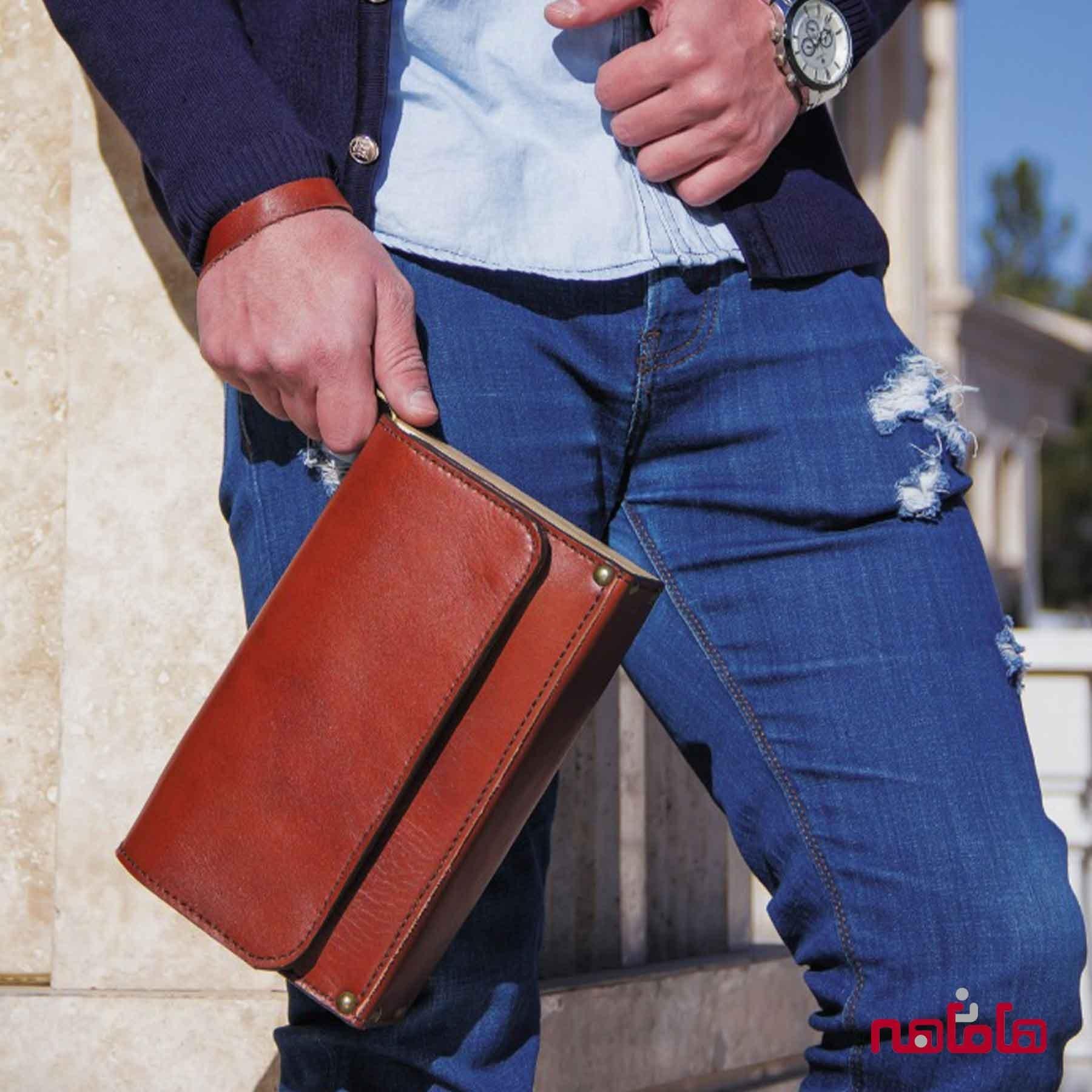 کیف چرم مردانه مدارک - اداری (چرم اصل گاوی)