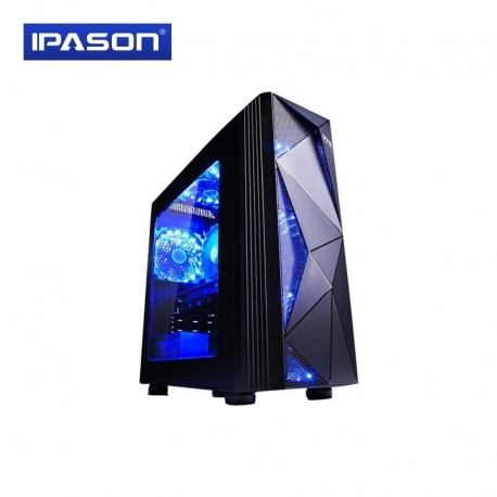 تصویر کامپیوتر گیمینگ مدل IPASON Gaming Desktop Computer Intel Core i5 9400F 256G SSD GTX1660 6G DDR4 8G 2666Mhz Gaming