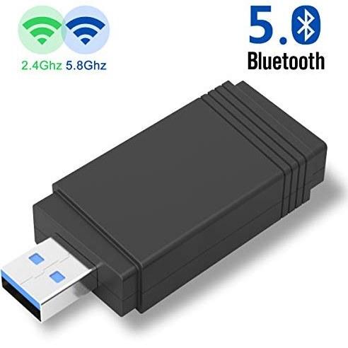 تصویر آداپتور USB WiFi YEHUA USB برای رایانه / دسک تاپ / لپ تاپ 5G دانگل دو سیم بی سیم 2.4G / 5G 600Mbps بلوتوث 4.2 برای رایانه های Windows XP / 7/8/10 / Vista ، Mac OS ، Linux
