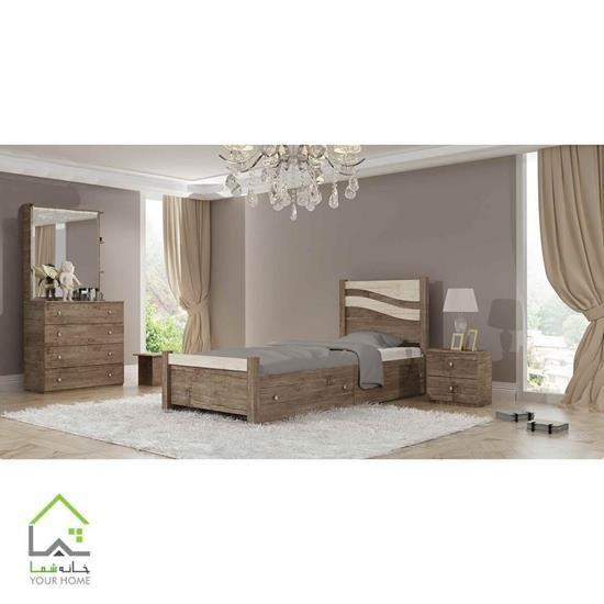 تصویر تخت و سرویس خواب یک نفره آریا