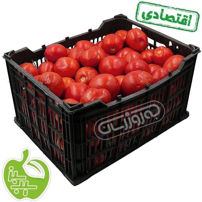 تصویر گوجه فرنگی درهم سبدی برند سیب سبز