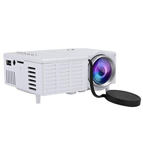 پروژکتور سینمای خانگی Portable Mini Portable 60 Display، 60 اینچی ، 20،000 ساعت LED و 1080P پروژکتور سینمای خانگی با پشتیبانی فن رادیاتور سازگار با USB / TF / AV (سفید)