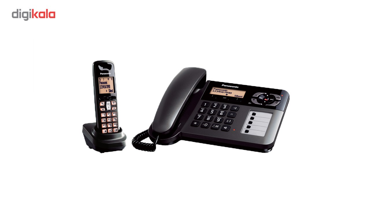 تصویر گوشی تلفن بی سيم پاناسونیک مدل KX-TGF120 Panasonic KX-TGF120 Corded & Cordless Phone
