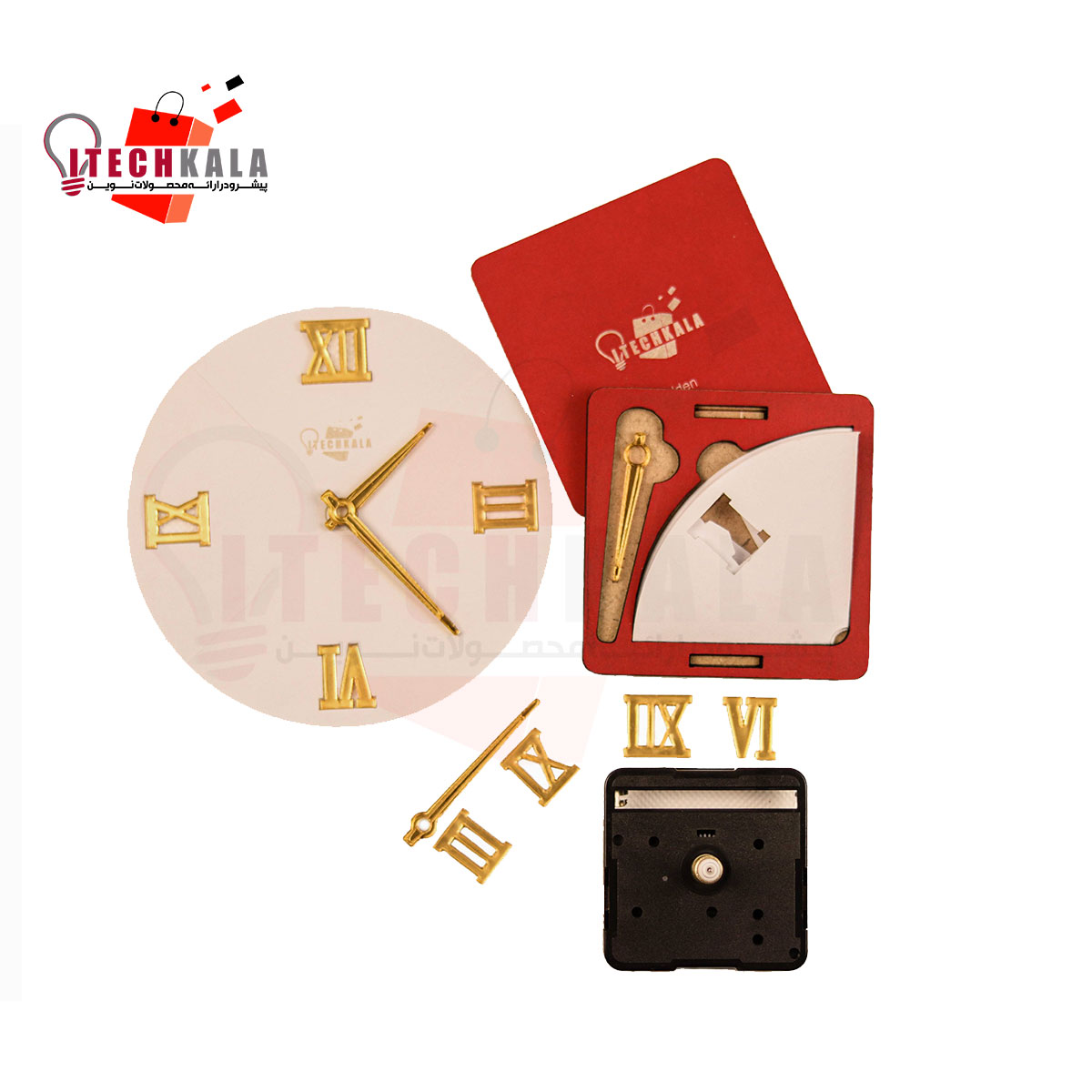 تصویر پک عقربه و شماره ساعت به همراه موتور ساعت