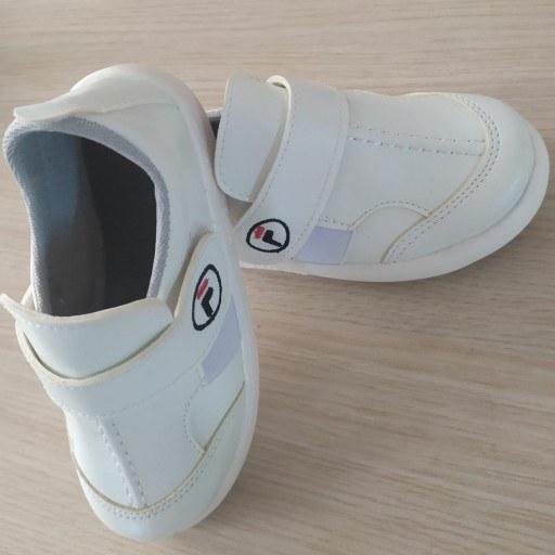 کفش بچه گانه مدل چسبی/رنگ سفید