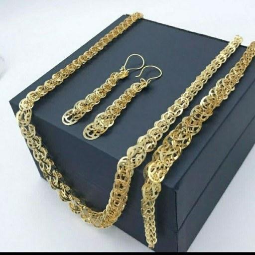 main images سرویس پولکی برنجی طرح طلا