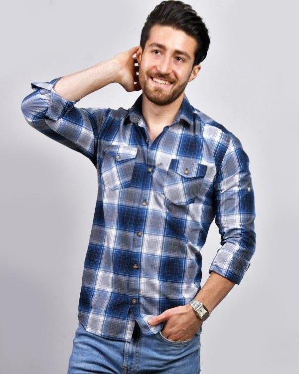 main images پیراهن آستین بلند مردانه مدل دو جیب