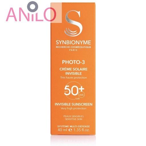 تصویر کرم ضد آفتاب ضد لک SPF50 فوتو۳ سین بیونیم SYNBIONYME PHOTO-3 Anti Brown Spots SPF 50