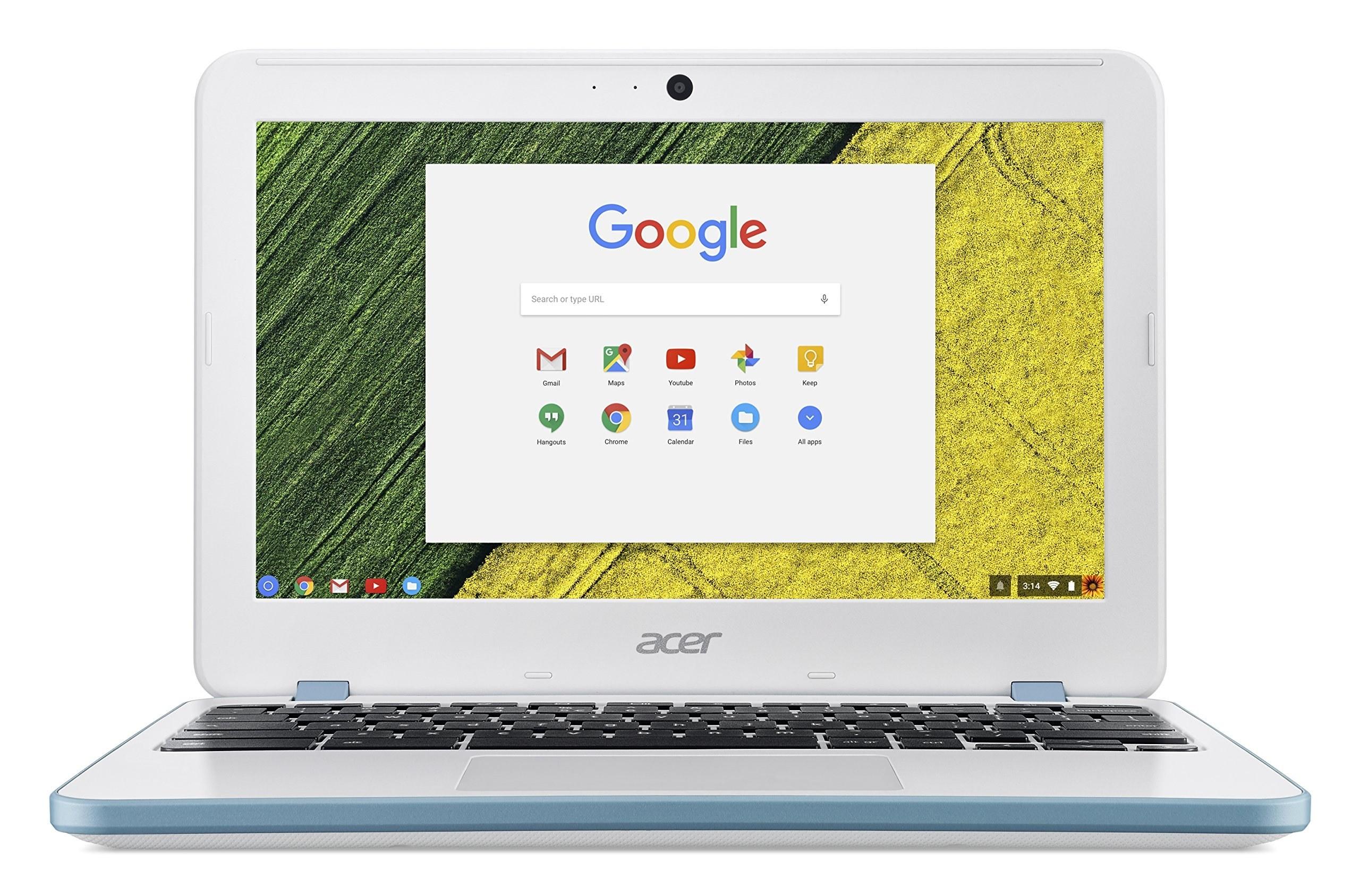 عکس لپ تاپ ۱۱ اینچ ایسر Chromebook 11 Acer Chromebook 11, 11.6-inch HD, Intel Celeron N2840, 4GB DDR3L, 16GB Storage, Chrome, CB3-131-C8GZ لپ-تاپ-11-اینچ-ایسر-chromebook-11