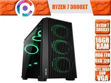 تصویر کامپیوتر گیمینگ و طراحی مهندسی Ryzen 7 3800XT