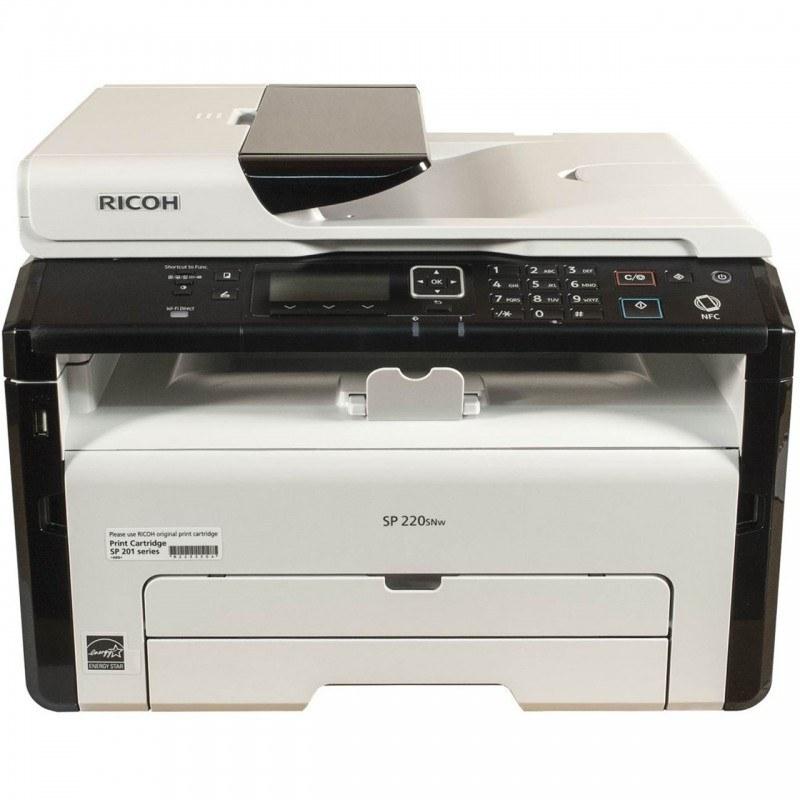 تصویر پرینتر چندکاره لیزری ریکو مدل SP 220SNw Ricoh SP 220SNw Multifunction Laser Printer