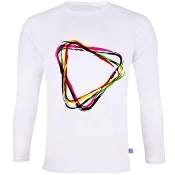 تی شرت آستین بلند مردانه آکو  طرح colorful کد BS111 |