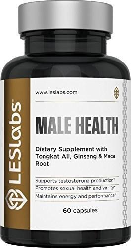 تقویت کننده تستسترون LES Labs Male Health - برای قدرت، استقامت و عملکرد - 60 کپسول  