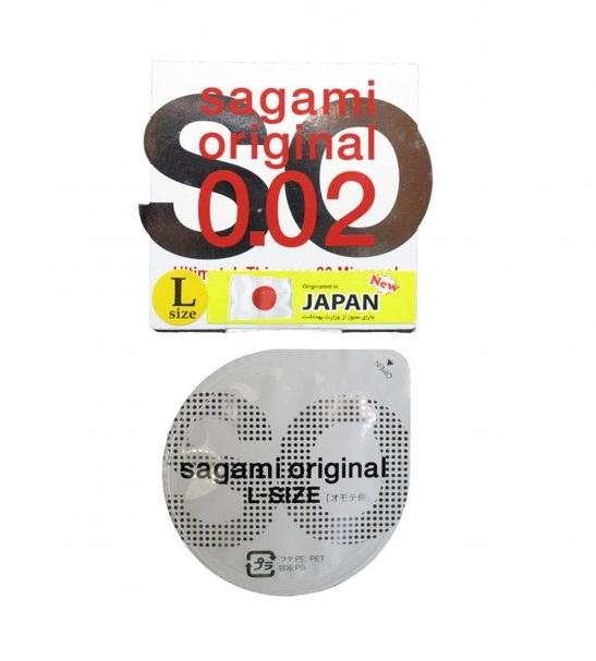 کاندوم بسیار نازک ساگامی مدل Large بسته یک عددی