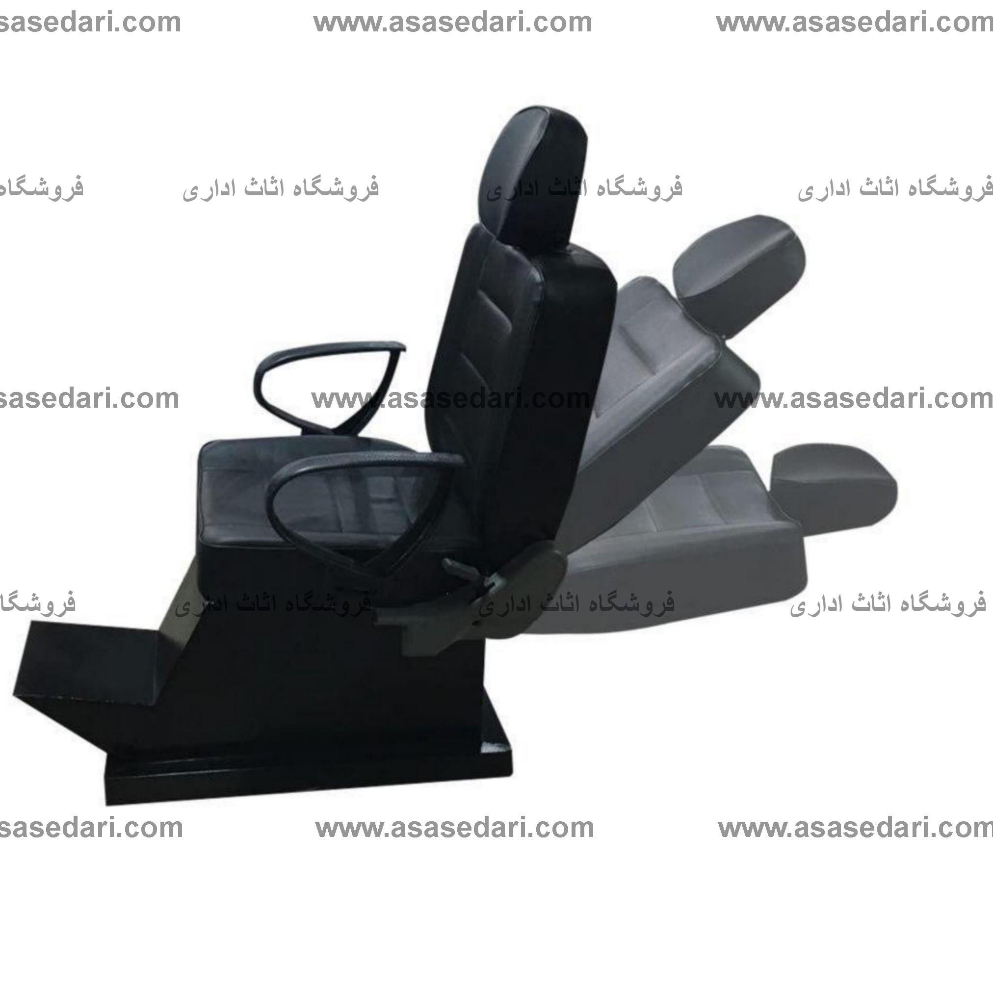 تصویر صندلی آرایشگاهی مردانه طرح برقی