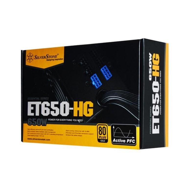 تصویر منبع تغذیه کامپیوتر سیلوراستون مدل Essential SST-ET650-HG