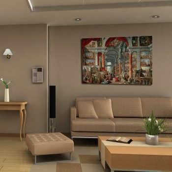 تابلو شاسی طرح پازل تالار روم مدرن