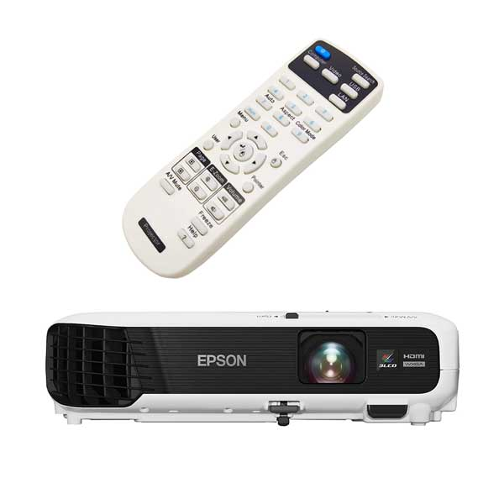 تصویر کنترل ویدئو پروژکتور اپسون مدل Epson VS240