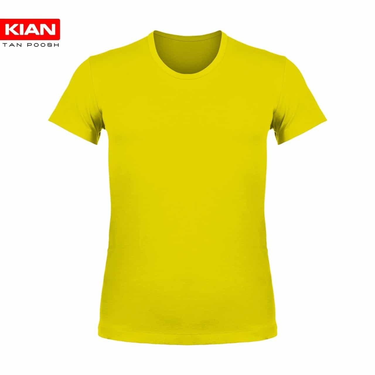 زیرپوش نیم آستین کلاسیک پنبه زرد | زیرپوش نیم آستین کلاسیک پنبه ساده زرد