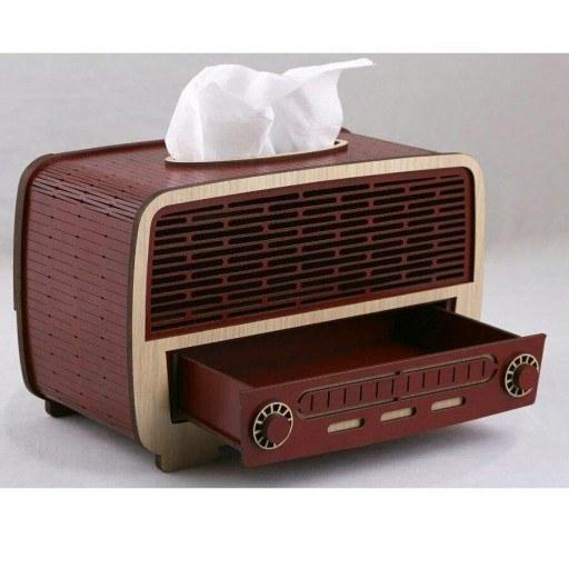 جعبه دستمال کاغذی طرح رادیو قدیمی |