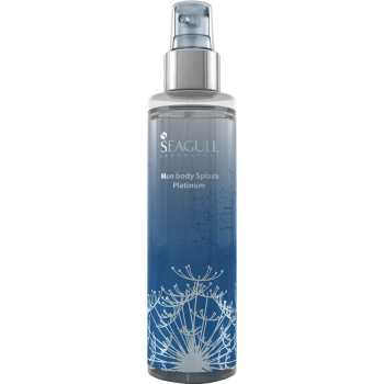 پک اسپری مردانه سی گل مدل Platinum و کرم مرطوب کننده مدل Silk حجم 100 میلی لیتر | Seagull Platinum Body Splash And Silk Moisturizing Cream 200ml