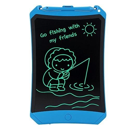image تبلت نوشتن LCD 8.5 اینچ HUIXIANG تابلوی طراحی دیجیتال الکترونیکی اسباب بازی های Doodle Pad با قفل ، بازگشت به مدرسه هدیه برای دانش آموزان هدیه تولد کودکان و نوجوانان برای دفتر دوستان و مشکلات گفتاری ، آبی