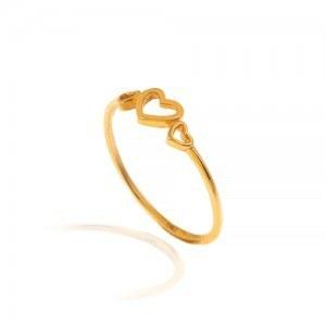 تصویر انگشتر طلا طرح قلب کد CR501