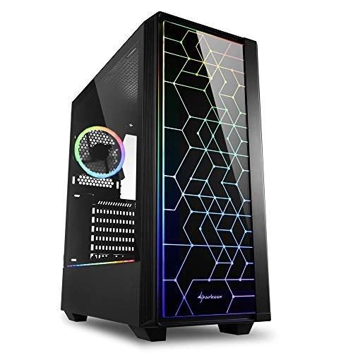 تصویر کیس کامپیوتر PC Sharkoon RGB LIT 100