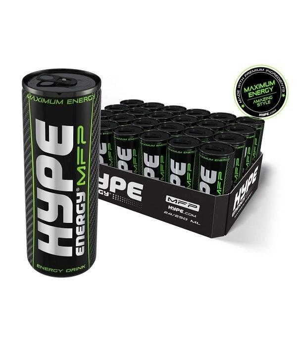 تصویر نوشیدنی انرژی زا 250 میلی لیتر هایپ خارجی Hype MFP پک 24 عددی