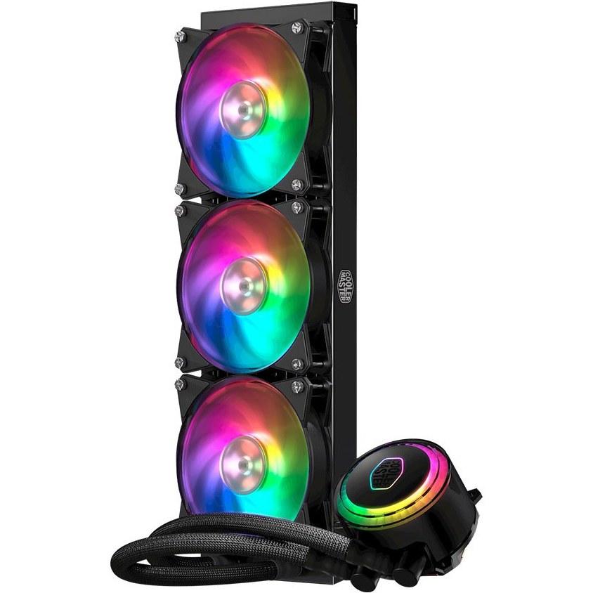 image فن پردازنده RGB کولر مستر همراه مایع خنک کننده مدل MasterLiquid ML360 Cooler master MasterLiquid ML360R RGB CPU Liquid Cooler