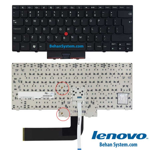 تصویر کیبورد لپ تاپ Lenovo Thinkpad E15