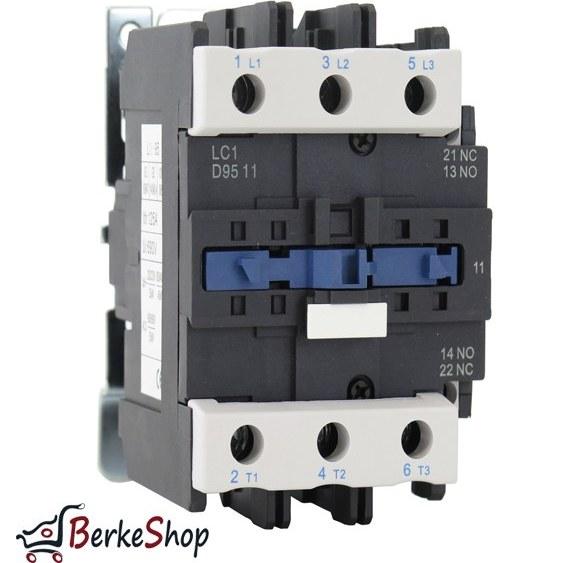 تصویر کنتاکتور تله مکانیک مدل LC1-D9511M7 اصل - 95 آمپر - 220 ولت AC Contactor Telemecanique LC1 D9511M7