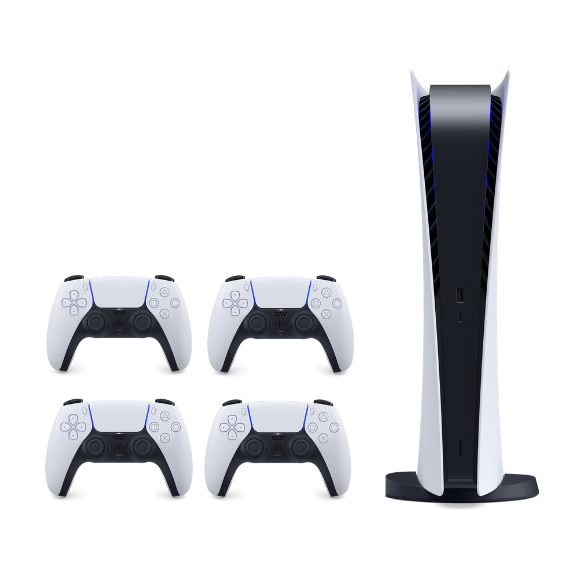تصویر باندل پلی استیشن ۵ دیجیتالی به همراه 3 دسته دوال سنس اضافه Digital Playstation 5 With 3 Dualsense
