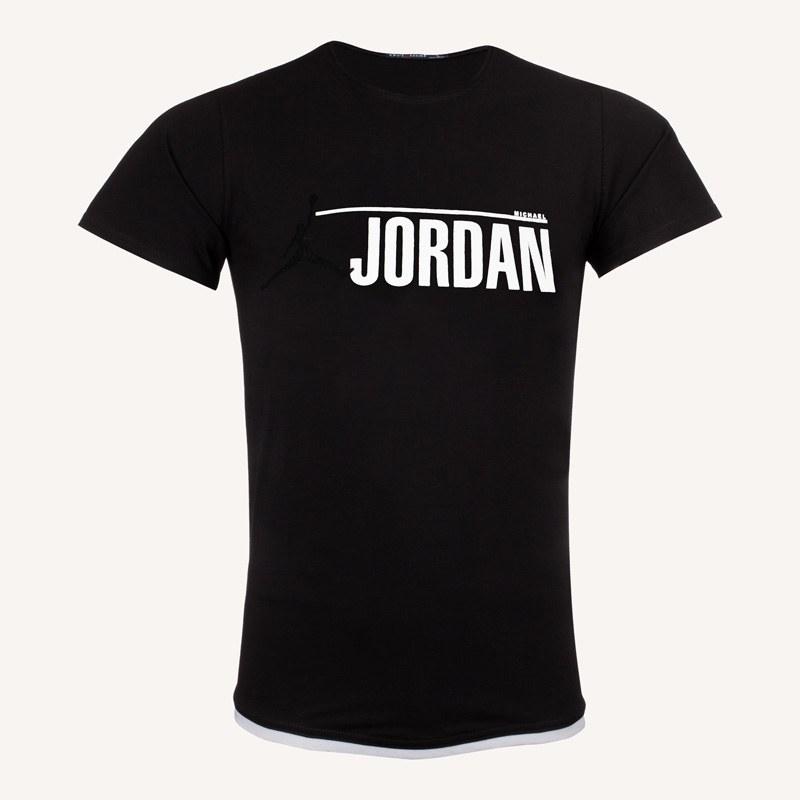 تصویر تیشرت مردانه یقه گرد طرح Jordan کد T127