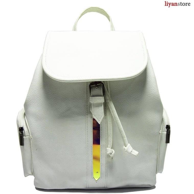 کیف زنانه – کوله پشتی زنانه – کوله پشتی دخترانه نوار طلایی – e42   Backpack
