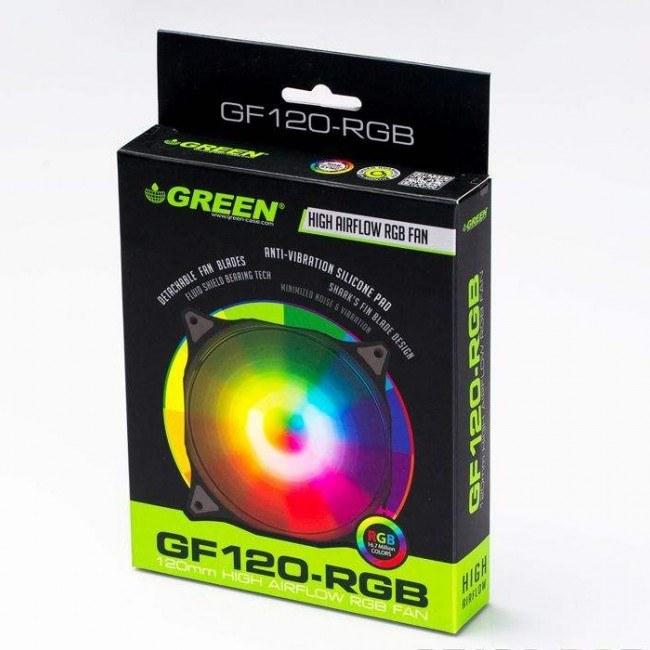 عکس فن کیس گرین مدل GF120RGB Green GF120-RGB Case Fan فن-کیس-گرین-مدل-gf120rgb