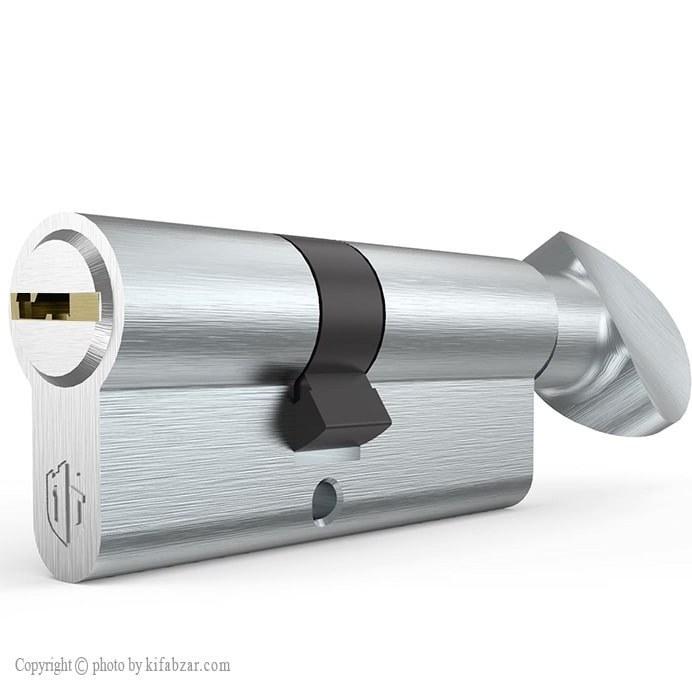 سیلندر قفل درب آپارتمانی نیکل ساتن تنسر سایز 7 سانتیمتر | Tanser TL-1611-70 Lock Cylinder