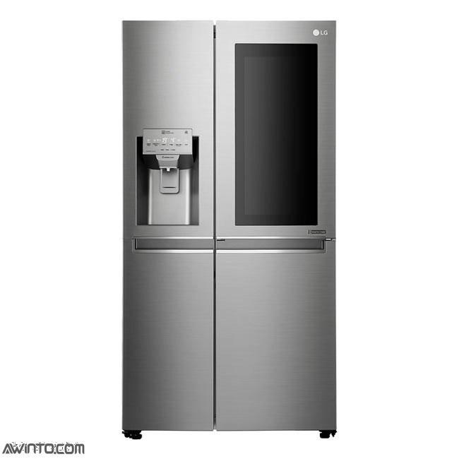تصویر یخچال فریزر ساید بای ساید ال جی مدل X257 LG GR-X257 Refrigerator