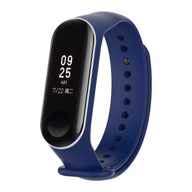 تصویر بند سیلیکونی دو رنگ دستبند شیائومی mi band 3 Xiaomi Mi Band 3 and mi band 4 Two color Silicone Wrist Strap