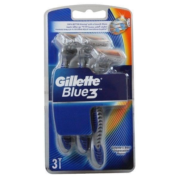 خود تراش ژیلت Gillette مدل blue3 بسته 3 عددی