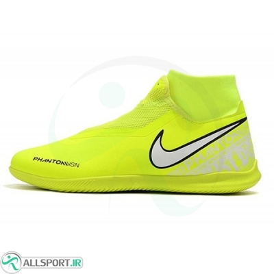 کفش فوتسال ساقدار نایک فانتوم طرح اصلی زرد سفید مشکی Nike Phantom Vision Academy DF IC Yellow White Black
