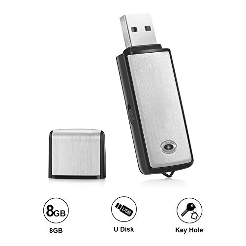 Voice Recorder by Lgsixe USB Flash Drive 128Kbps Digital Voice Recording 8gb No Flashing Light When Recording,Compatible with Windows Mini Record