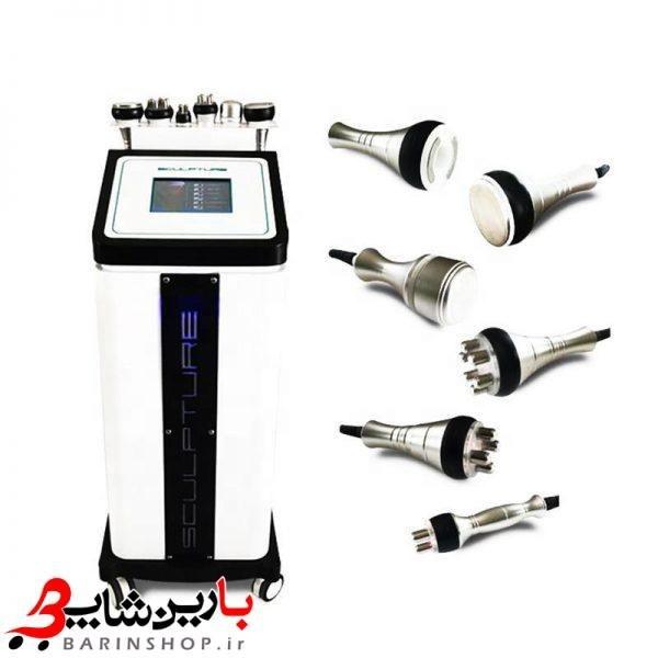 دستگاه لیزر RF زیبایی و لاغری موضوعی صورت و بدن و کاهش وزن 6 هندپیس کویتیشن + وکیوم + آر اف + التراسونیک + فرم دهنده سینه و باسن
