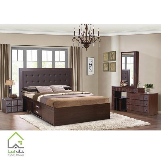تصویر سرویس تخت خواب ام دی اف مدل رونیا